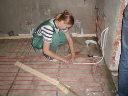 Монтаж электрического теплого пола в Кемерове. электрический теплый пол